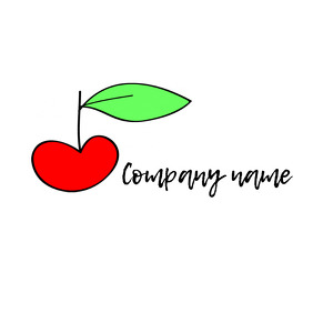 apple logo/cherry logo