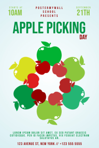 Apple Picking Family Day flyer Template