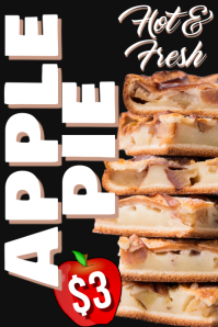 Apple Pie Ad Poster Template