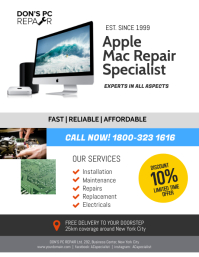 Apple Repair Specialist Flyer Poster Template
