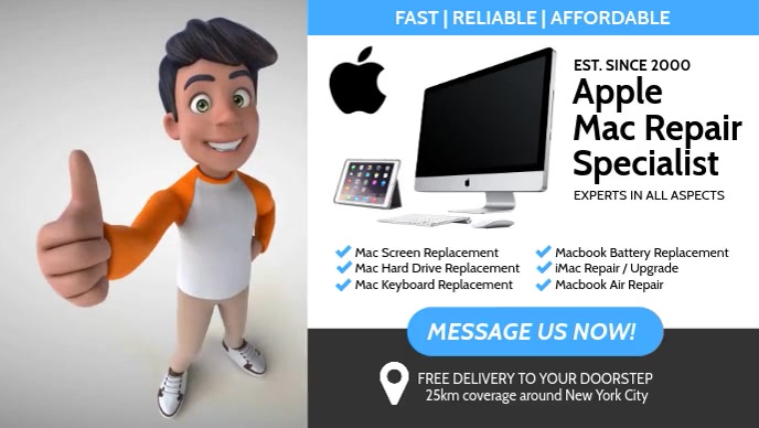 Apple Services Facebook Cover Video (16:9) template