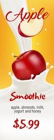 Apple Smoothie Leaflet Halfbladsy Brief template