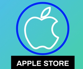 APPLE STORE LOGO TEMPLATE Mellemstort rektangel