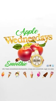 Apple Wednesdays Video Affichage numérique (9:16) template