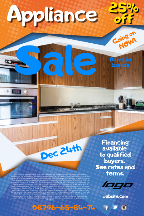 Appliance Sale Poster