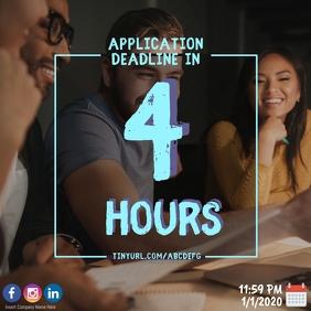 Application Deadline Poster