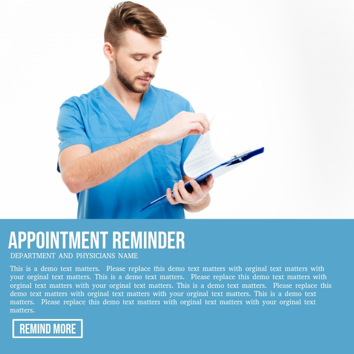 appointment reminder template postermywall