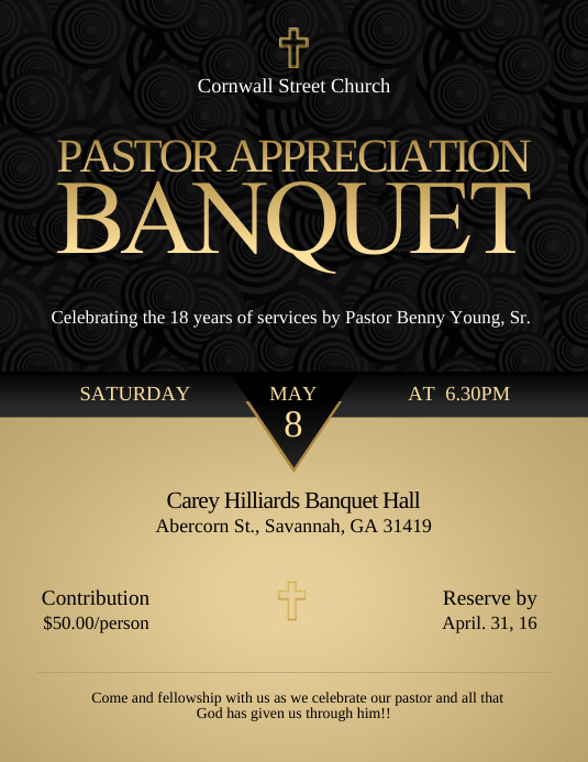 appreciation banquet flyer template postermywall