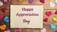 appreciation day งานแสดงผลงานแบบดิจิทัล (16:9) template