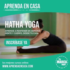 Aprenda en casa hatha yoga instagram