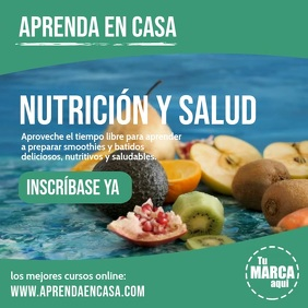 Aprenda en casa Nutrición y Salud instagram