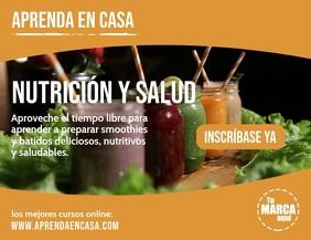 Aprenda en casa Nutrición y Salud volante