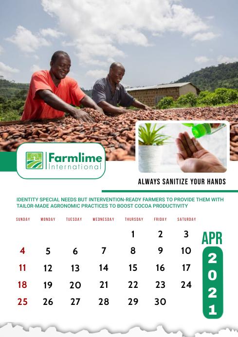 April 2021 Calendar Template A2