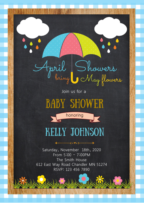 April baby shower invitation