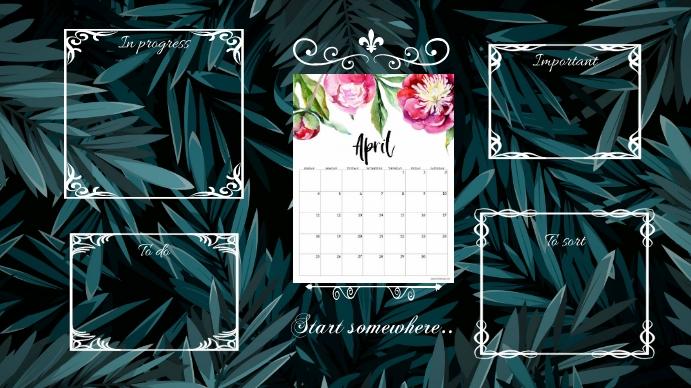 April desktop wallpaper Tampilan Digital (16:9) template