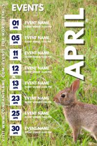 April Events Schedule Calendar Template