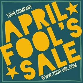April Fool's Sale Pos Instagram template
