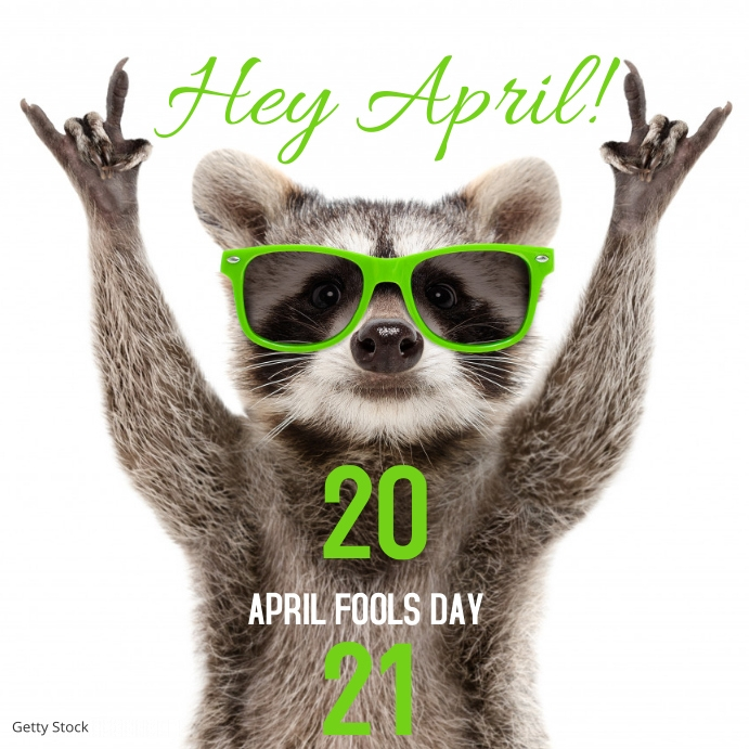 April Fools Day Month Ad Instagram-opslag template