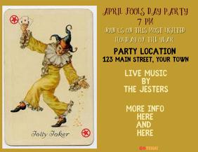April Fools Party Business Advertisement