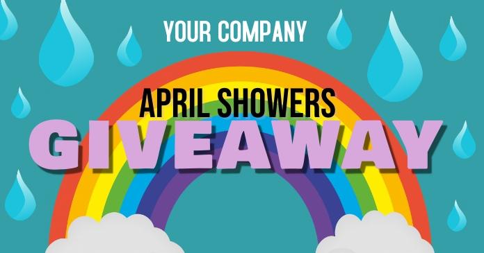 April Shower's Giveaway delt Facebook-billede template