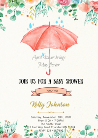 April shower brings May flower card