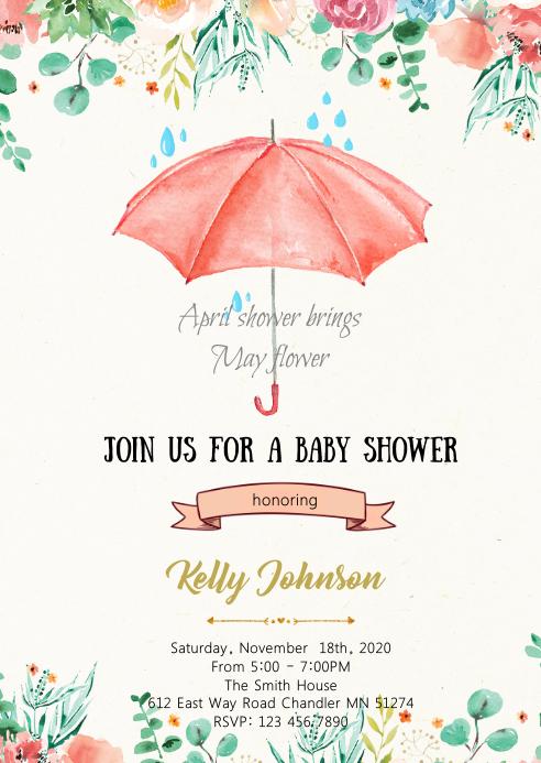 April shower brings May flower card