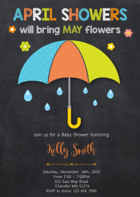 April shower party invitation