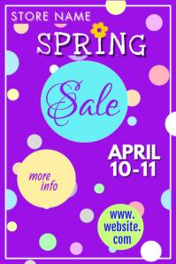 April Showers Spring Sale Poster