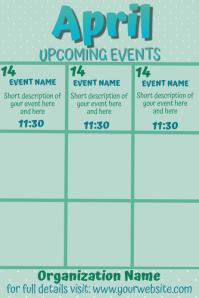 April Upcoming Events Calendar