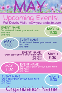 April Upcoming Events Poster template