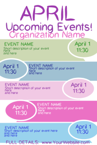 April Upcoming Events