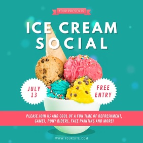Aqua Ice Cream Social Instagram Video Instagram-opslag template