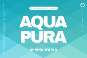 Aqua Water Label