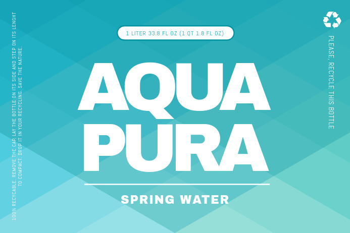 Aqua Water Label