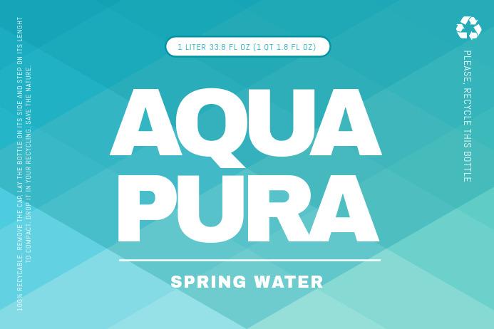 Aqua Water Label Etiket template