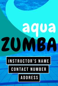Aqua ZUMBA Poster template