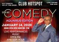AQUARIUS COMEDY SHOW Postal template
