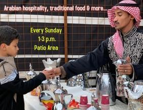 Arabian hospitality, traditional food