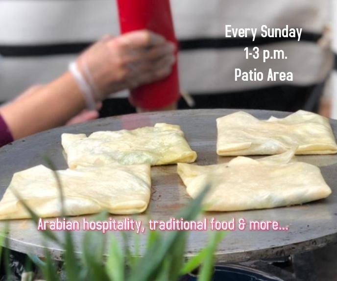 Arabian hospitality, traditional food สามเหลี่ยมขนาดใหญ่ template