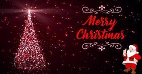 Arbol de Navidad Image partagée Facebook template