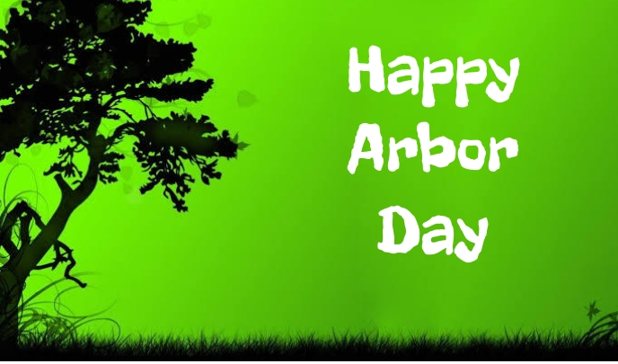 Arbor day Etiqueta template