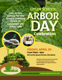 Arbor Day Event Flyer template