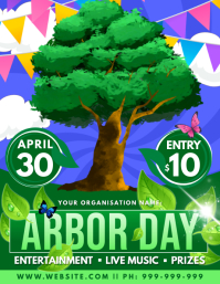 Arbor Day Poster Flyer (US Letter) template