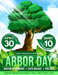 Arbor Day Poster Pamflet (VSA Brief) template