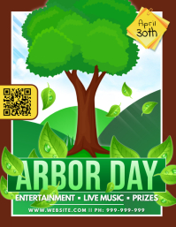 Arbor Day Poster Flyer (format US Letter) template
