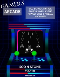 ARCADE Flyer (US Letter) template