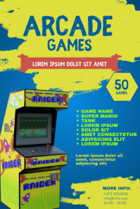 Arcade Games Flyer Template