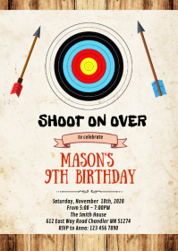 Archery birthday birthday invitation