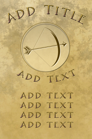 archery - bow and arrow template