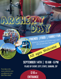 Archery Day Flyer Template
